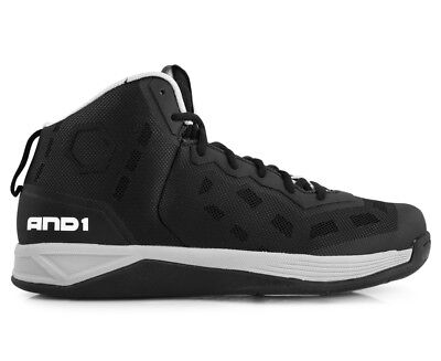 AND1 Men's Fantom Basketball Shoe - Black/Silver/White