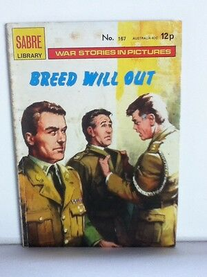 Sabre Library War Comic 'Breed Will Out' (Issue 167)