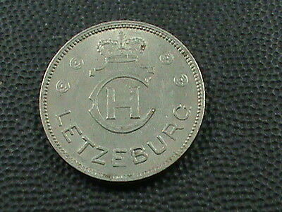 LUXEMBOURG    1  Franc    1939    ALMOST  UNCIRCULATED