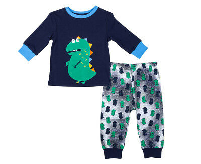 Undercover Crew Baby/Toddler Dino 2-Piece PJ Set - Navy