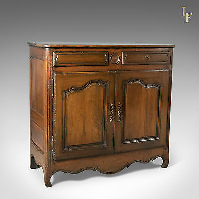 French Antique Sideboard Cabinet, 18th Century Walnut Cupboard, Circa 1780