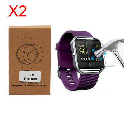 Screen Protector Tempered Glass for Fitbit Blaze Smart Watch Pack of 2