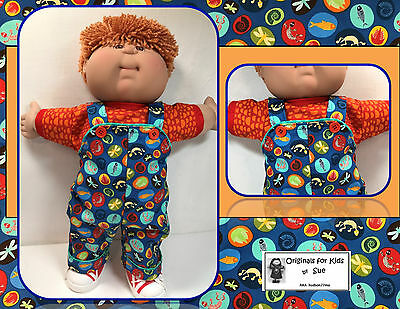 """Cabbage Patch Kid DOLL CLOTHES ONLY/fit 16"""" Boy (or Girl) Overall Outfit"""
