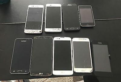 LOT OF 9 Phones- MIXED MODEL- LG, Samsung, iPod, Huawei *SHIPS FAST*