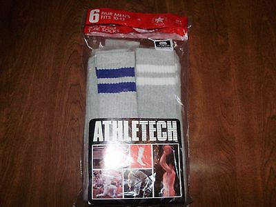 lot of 5 VINTAGE DEADSTOCK over the calf TUBE SOCKS mens 10-13 made in USA