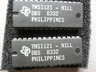 TMS1121N1LL TEXAS INST 2PC NOS (New Old Stock)