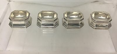 Set of 4 Antique Sterling Salt Trenchers