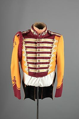 Vtg 60s Marching Band Sgt Peppers Uniform Jacket sz S 36 Brass Buttons #3401