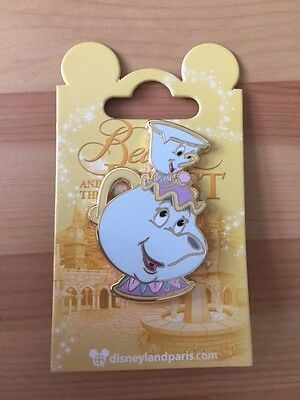 Disneyland Paris Genuine Disney Trading Pin Beauty and the Beast Mrs Potts Chip