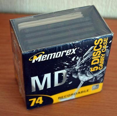 Memorex Minidiscs MD74 pack of 5, sealed