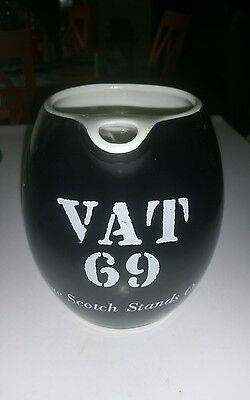 Vintage VAT 69 Scotch Whiskey PitcherJug Bar Pub Decor Black Stand Out  New York