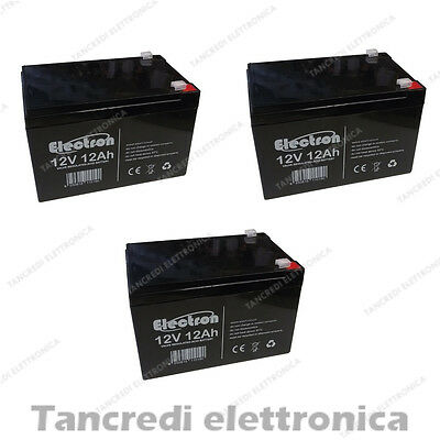 KIT BATTERIE 36V 12Ah GEL/AGM CICLICHE DEEP-CYCLE BICI ELETTRICA - 6 DZM 10-12