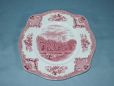 Johnson Brothers Old Britain Castles Pink Square Salad Plate Crown Mark