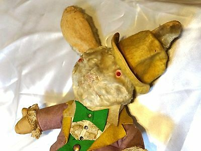 Antique Vintage Toy 1920's Stuffed Bunny Rabbit Doll Alice In Wonderland Style