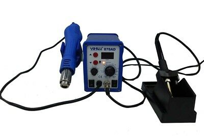 Yihua 878AD SMD Rework Station 2 In 1 Hot Air Gun & Iron
