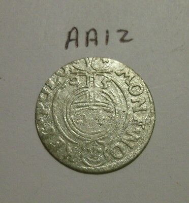1600s Silver Medieval Coin. 1/24 thaler.  (lot #AA12)