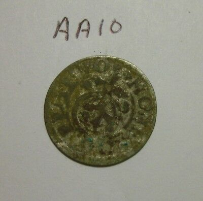 1600s Silver Medieval Coin. 1/24 thaler.  (lot #AA10)
