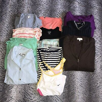 Womens XL 10 Piece Wholesale Clothing Lot Nike Maurices Ralph Lauren Columbia