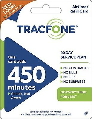 Tracfone 450 Minutes 90 Service Days