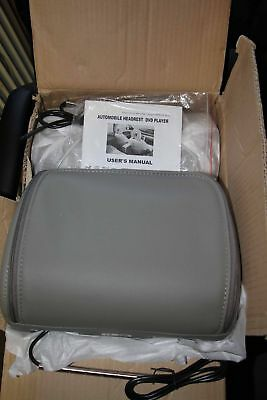 """2pc set 9""""LCD In Car Gray Pillow Headrest DVD Player Monitor"""