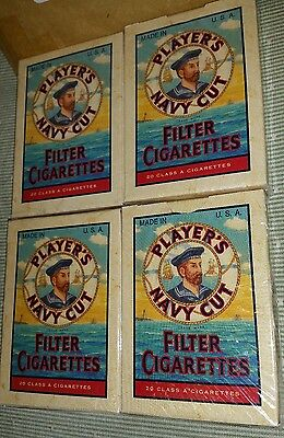LOT OF 4 PLAYERS NAVY CUT CIGARETTES  PLAYING CARDS deck NOS sealed