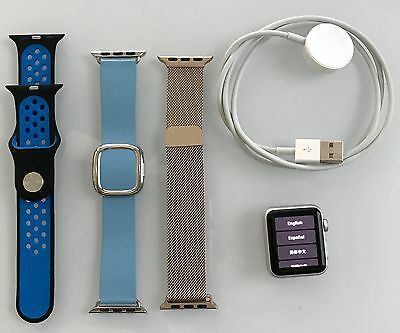 Apple Watch Series 1 38mm Aluminum Case (A1802) - 3 Bands, Cable