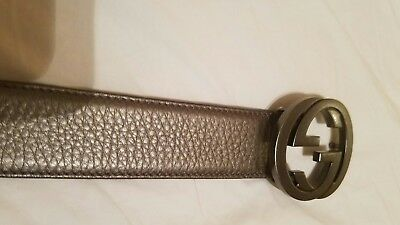 Women's authentic g gucci belt size 95 preowned pewter