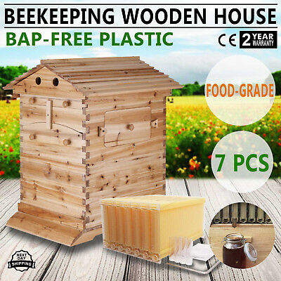 Mophorn Beehive Automatic Honey Bee Hive House with 7 PCS Auto Flow Honey Hive