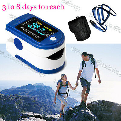 OLED Oximeter Oxymeter Finger Pulse Blood Oxygen Monitor SpO2 PR + case