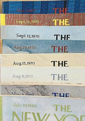 Vintage The New Yorker Lot of 1969 & 1970 8 Issues