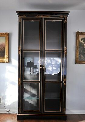 KINDEL National Trust Lighted Curio Cabinet - Stunning!