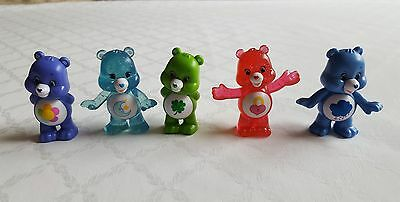 Lot of (5) Care Bears- Figurines- Cake Toppers