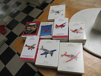8 Different Hallmark KEEPSAKE  Sky's the Limit Air Plane Christmas Ornaments Lot
