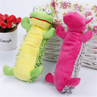 Pet Cat Dog Puppy Moppy Plush Toy Chew Squeaker Squeaky Sound Training Toys