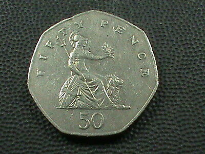 GREAT  BRITAIN     50  Pence   1982