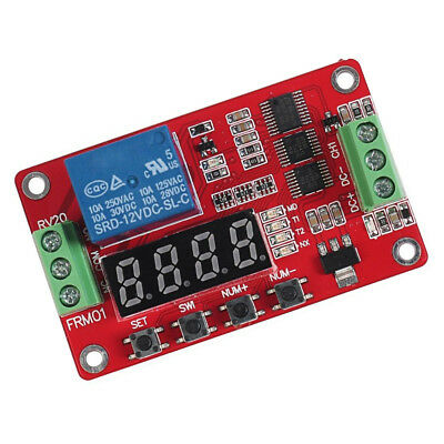 1* 12V DC Multifunction Self-lock Relay PLC Cycle Timer Module Delay Time Switch
