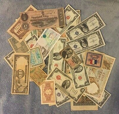 Lot of 35 pcs, World Mixed Old Banknotes - RARE COLLECTION ! ! !