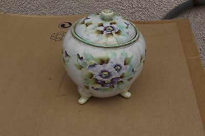 Antique hand painted porcelain jar, Germany?