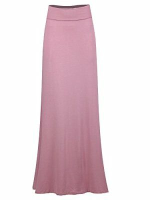 Taylor Perform Women's Relaxed Comfortable Fit Maxi Skirts 3X-Large Solid V Rose