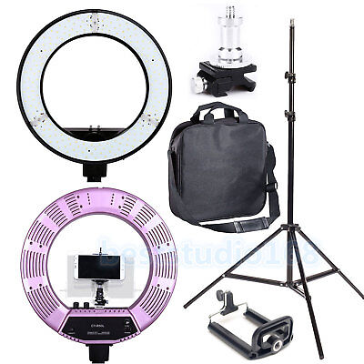"Fotostudio 18"" LED 50W Ring Light 2M Reverse Stand Photo Video Makeup Beauty Set"