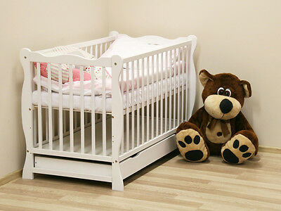 New Offer! Baby cot/junior bed with drawer. Julia II White + Mattress to choose