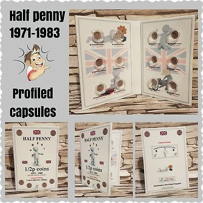 1/2p 1971 - 1983:  HALF PENNY, NEW PENNY UK Coin album - NO COINS. JB Album