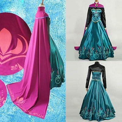 Girls Frozen Coronation Dress Costume Princess Queen Elsa Cosplay Party Birthday