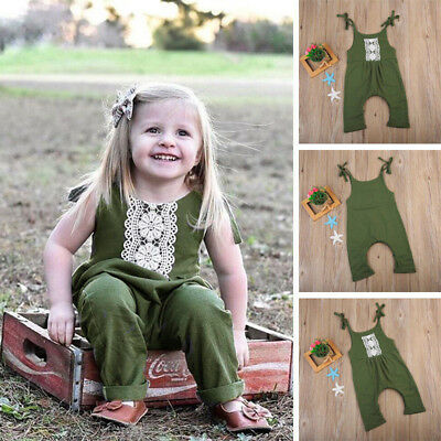 Toddler kid Baby Girls Boy Cute Romper Clothes Bodysuit Jumpsuit Cotton Outfits