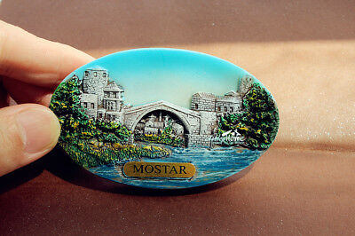 Bosnia and Herzegovina Mostar Tourist Travel Souvenir 3D Resin Fridge Magnet