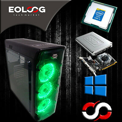 PC DESKTOP GAMING COMPUTER INTEL CORE i5 SSD 120GB HDD 1TB RAM 8GB GTX MODULARE
