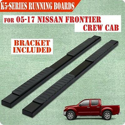 """Fit 04-17 Nissan Frontier Crew Cab K5"""" Running Board Nerf Bar Side Step BLK"""
