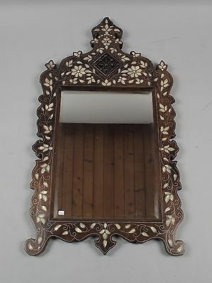 Moorish mirror inlayed pewter and mother of pearl ca. 1900