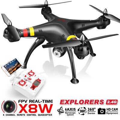 SYMA X8W FPV Real-Time Wifi Camera Drone 6-Axis RC Quadcopter Headless 360° Roll