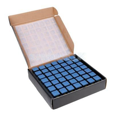 High Quality Blue Pool/Snooker/Billiard Tables Cues Tips Chalks, 98 Cubes